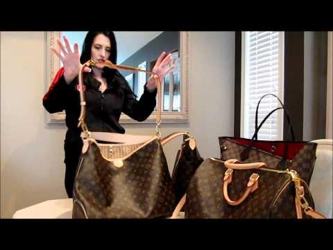 Louis Vuitton Size Comparison  Speedy Totally Delightful Neverful Noe