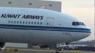 Kuwait Airways 777-200ER {9K-AOA} at London Heathrow Airport