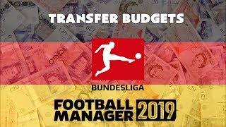 FOOTBALL MANAGER 2019 - BUNDESLIGA TRANSFER BUDGETS