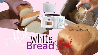 Simple Basic Milk White Bread Recipe Breadmaker Machine Breville Custom Loaf Pro Bbm800 How To
