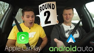 Android Auto vs Apple CarPlay 2018 UPDATE REAL WORLD TEST - Yuri and Jakub