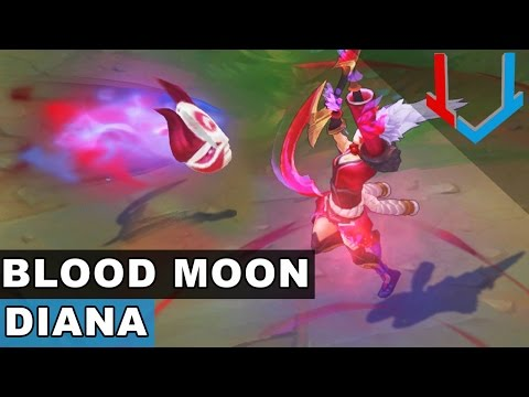 Blood Moon Diana Skin Spotlight (League of Legends)