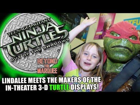 Lindalee Rose & the TMNT 2 Out of the Shadows 3D In-Theater Displays - Teenage Mutant Ninja Turtles