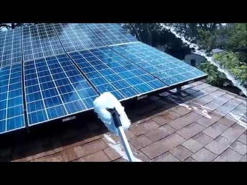 Cleaning Solar Panels With Eagle One Wash And Wax With KVUSMC