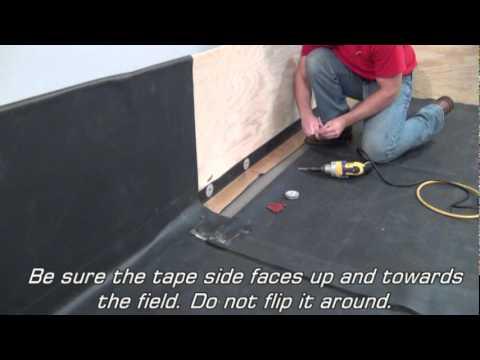Rubbergard Epdm Base Tie In Using Reinforced Perimeter