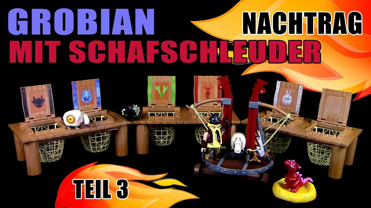 playmobil dragons grobian mit schafschleuder inkl 6. Black Bedroom Furniture Sets. Home Design Ideas