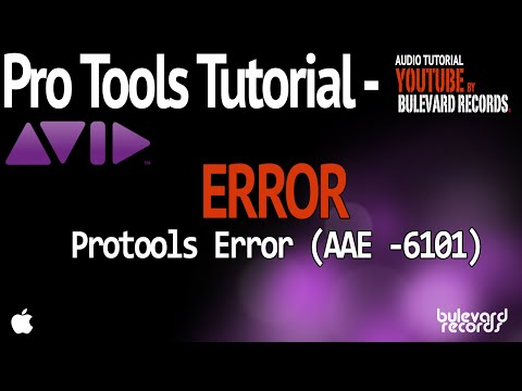 Error de Pro Tools 6101 / CPU OVERLOAD error 6101
