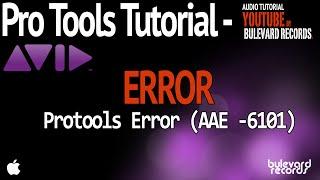 Error de Pro Tools 6101 / CPU OVERLOAD error 6101