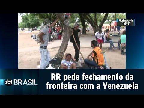 Roraima pede ao STF que suspenda imigração na fronteira com a Venezuela | SBT Brasil (20/08/18)