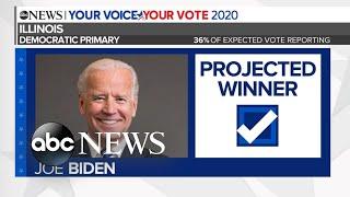 Gambar cover Biden projected to win Illinois Democratic primary