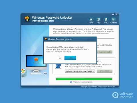 Windows Password Unlocker Professional Video Tutorial