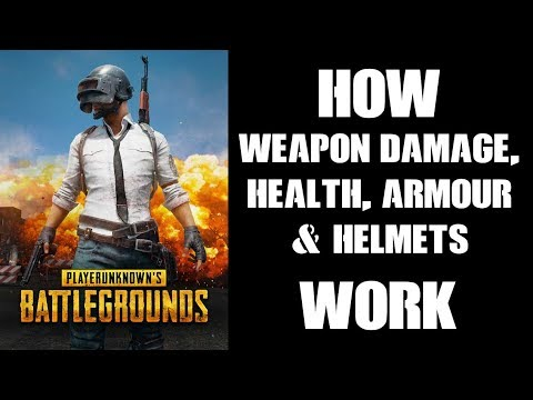 How Weapon Damage, Health, Armor & Helmets Work In PUBG (Xbox One)