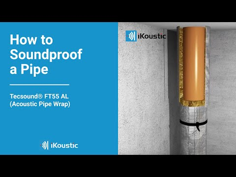 How to Soundproof a Pipe - Tecsound® FT55 AL (Acoustic Pipe Wrap) Installation Video