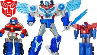 TRANSFORMERS ROBOTS IN DISGUISE OPTIMUS PRIME RESCUE BOTS ONE STEP CHANGERS HEATWAVE FIRE STATION