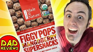 HEALTHY ENERGY SNACKS   Made in Nature Figgy Pops Mangoberry Supersnacks Taste Test & Review