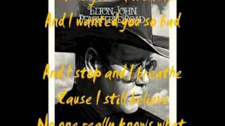 Watch Elton John I Stop And I Breathe video