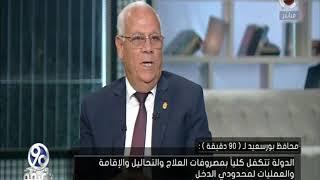 اللواء عادل الغضبان - محافظ بورسعيد يكشف المشاكل التي تواجه المحافظة في التأمين الصحي الشامل