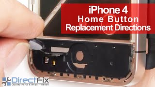 iPhone 4 Home Button Ribbon Cable Module Repair Directions | DirectFix