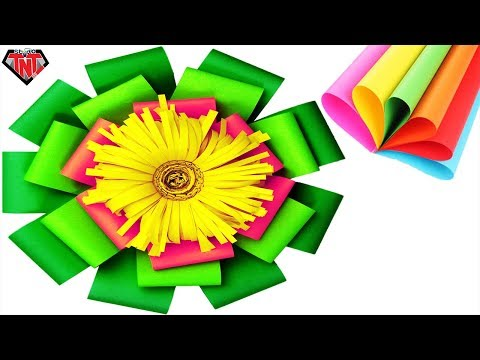 how to make large paper flowers for backdrop || DIY paper giant flower wall decor