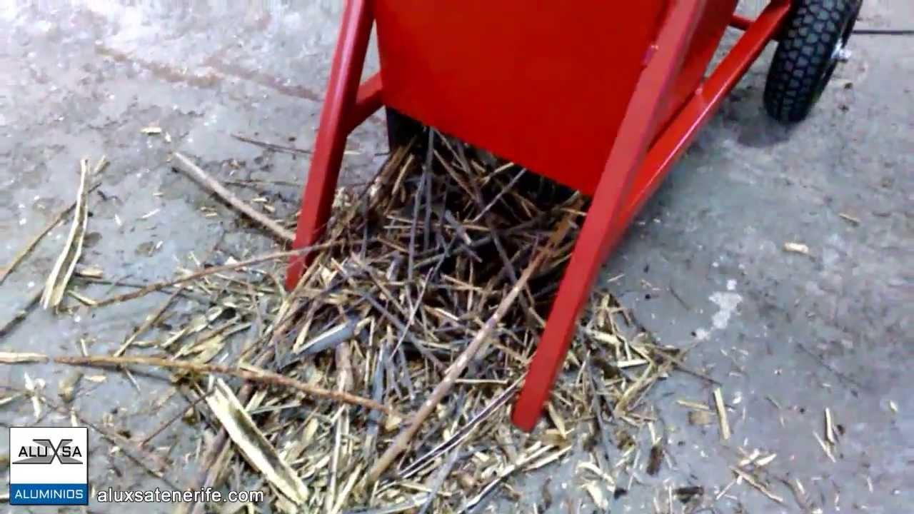 Triturador de ramas ideal para fabricar compost youtube - Trituradora de ramas casera ...