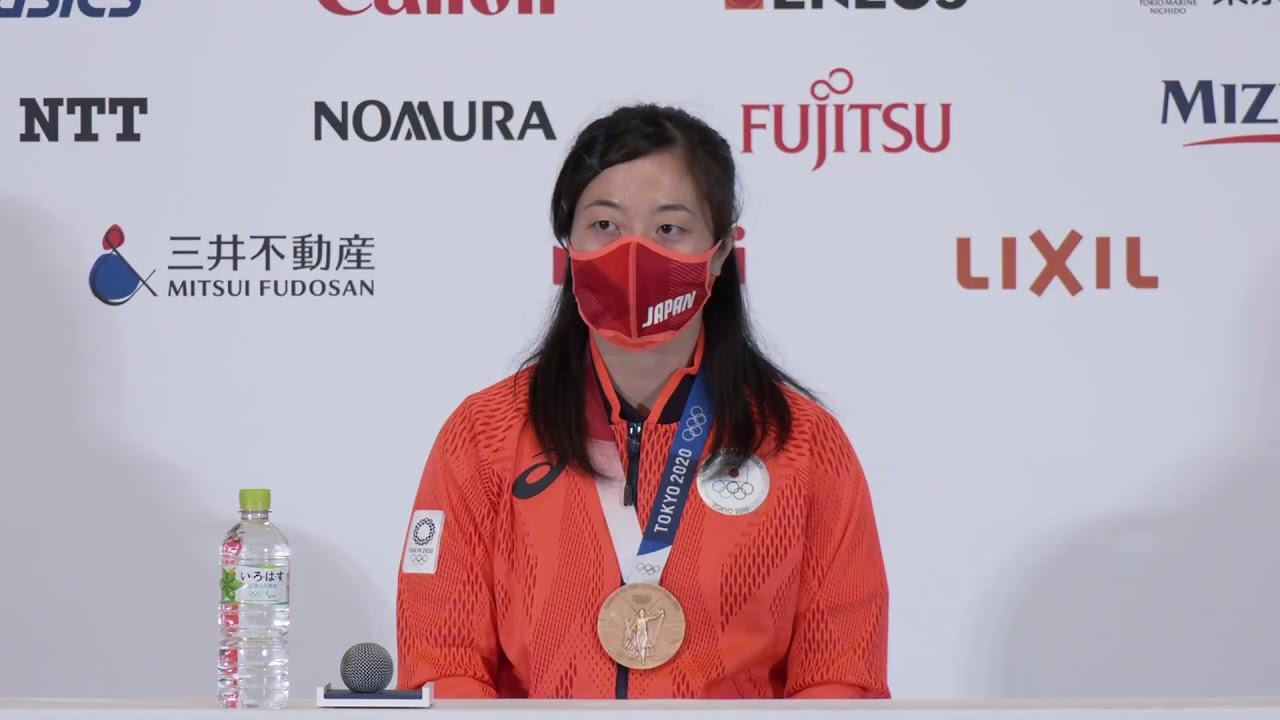 【LIVE】メダリスト記者会見 #ウエイトリフティング 女子59kg級 安藤 美希子 選手