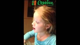 Харьков.Уля, 8 лет .Двузначные примеры с песней  (обучение 3 месяца)