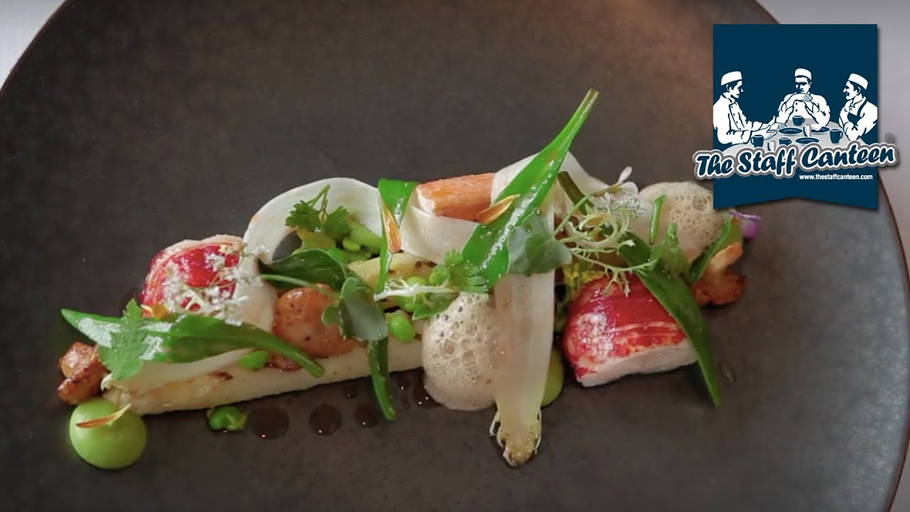 3 Michelin-starred chef Peter Goossens creates young pigeon and lobster with white asparagus ...