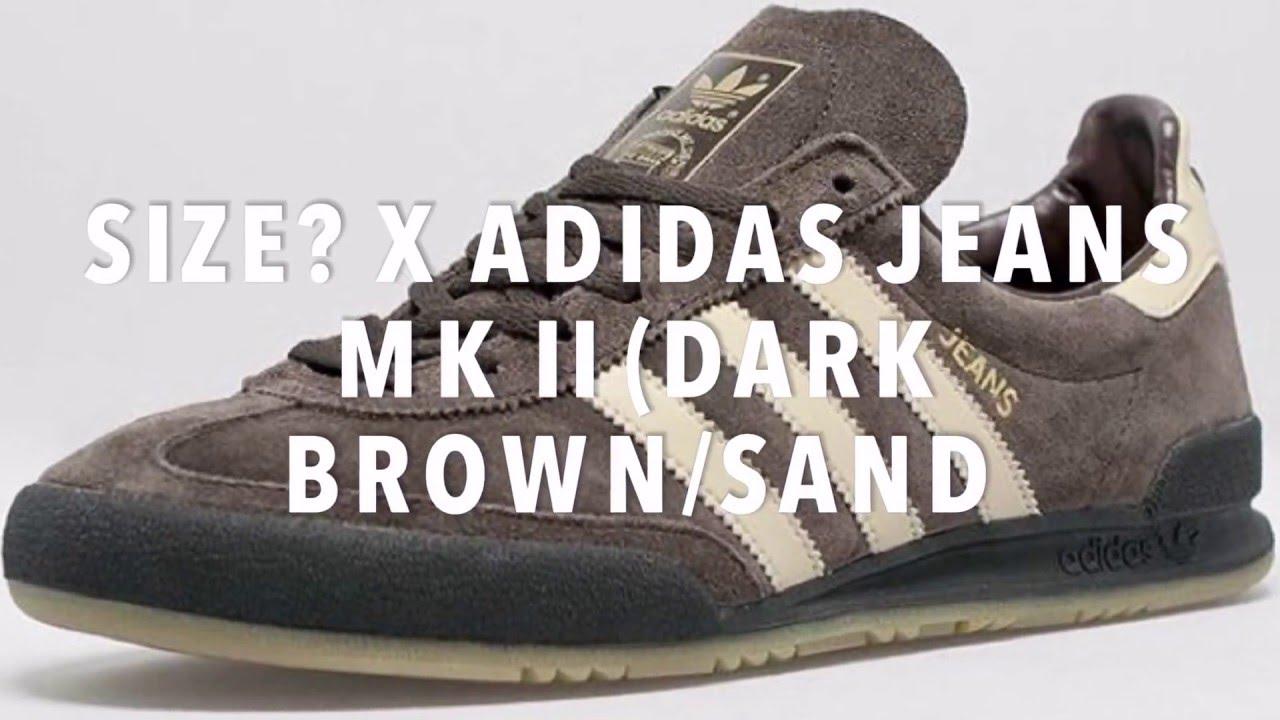 x ADIDAS JEANS MK II (DARK BROWN/SAND