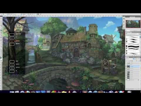 painting a fantasy environment tutorial.mov