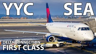 TRIP REPORT | Delta Connection Embraer 175 (FIRST CLASS) Calgary To Seattle