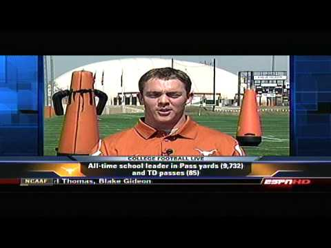 Colt McCoy interview on the up comping 2009 Texas Longhorns Football Season