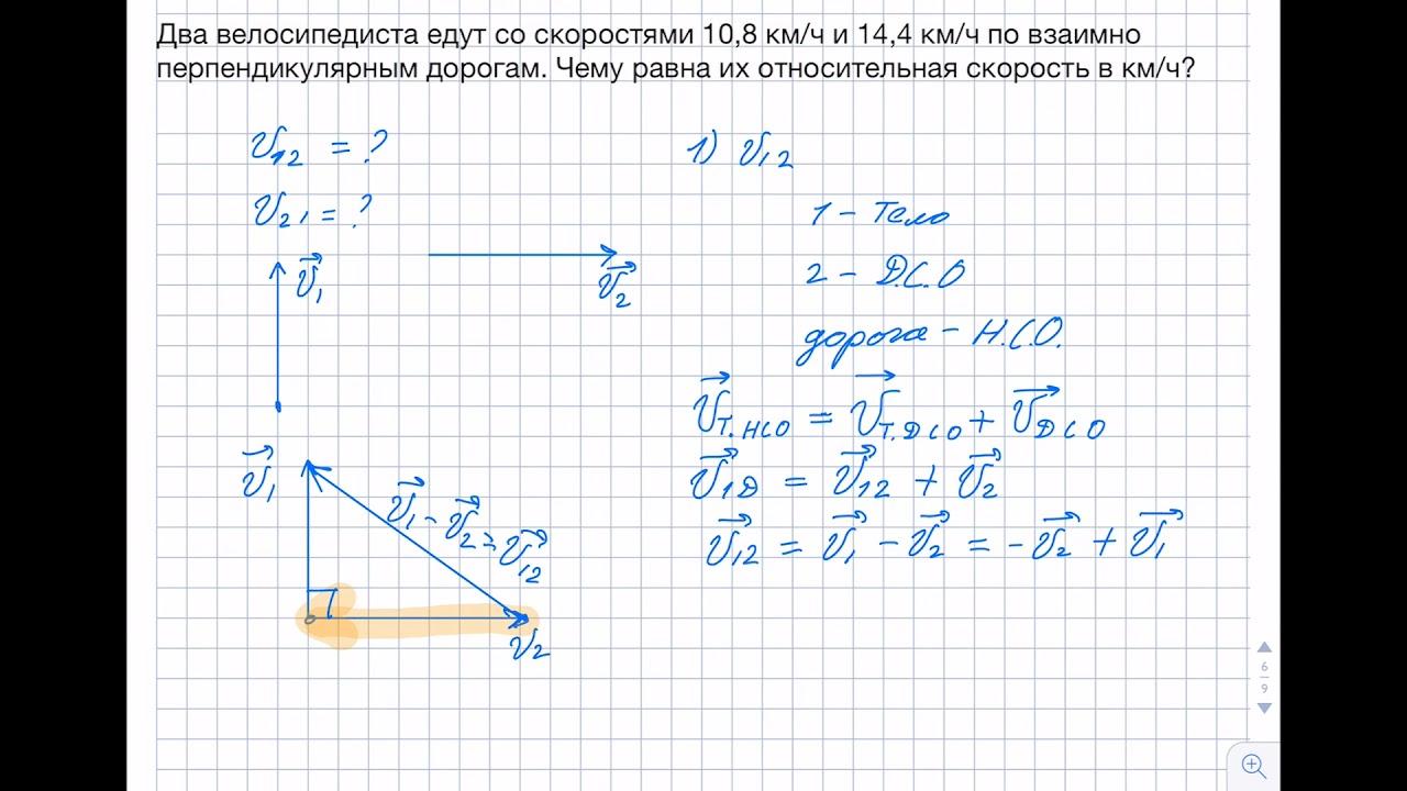 Относительность движения решения задач 10 кл решение задачи по геометрии 8 класс погорелов