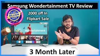 Samsung Wondertainment LED Smart TV In Depth Review After 3 Months | Flipkart Big Billion Days Offer