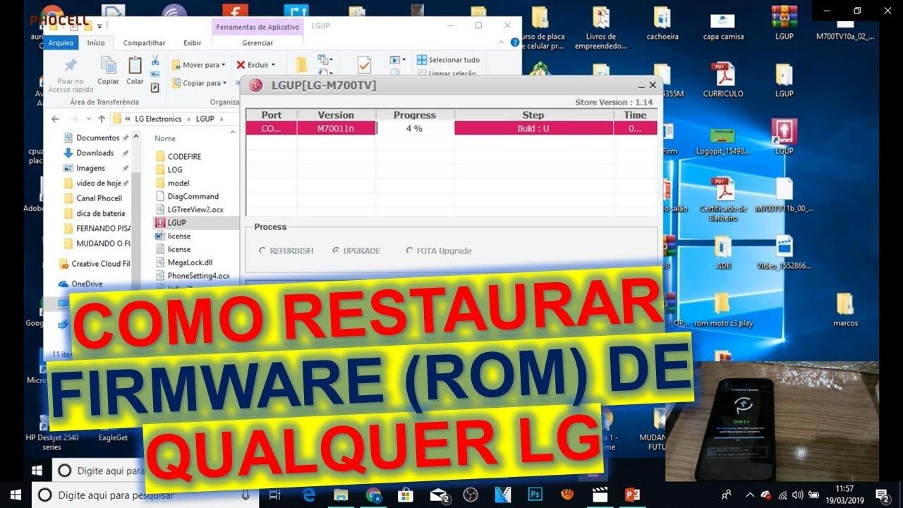 RESTAURAÇÃO DE ROM (FIRMWARE) LG Q6 PLUS, Q6, SERVE PARA LINHA Q, K, G, L,  etc