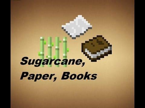 Minecraft - Crafting Recipes - Sugarcane, Paper & Books ...