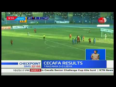 Tanzania were held to a goalless draw against Libya in a CECAFA cup 2018 match
