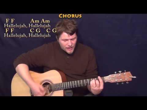 Hallelujah (Rufus Wainwright) Strum Guitar Cover Lesson with Chords/Lyrics