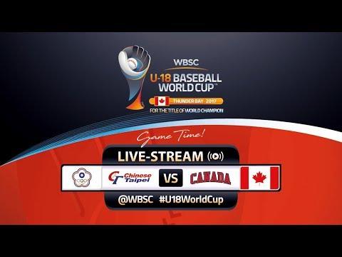 Chinese Taipei v Canada - WBSC U-18 Baseball World Cup 2017