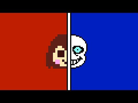 (Chara vs Sans) Stronger Than You Duel Duet (Milkychan & djsmell) w/ Lyrics [Undertale Parody]