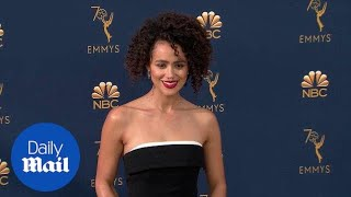 Nathalie Emmanuel looks flawless on the 2018 Emmys red carpet thumbnail