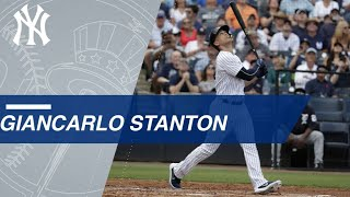 Giancarlo Stanton makes his Spring Training debut for Yankees