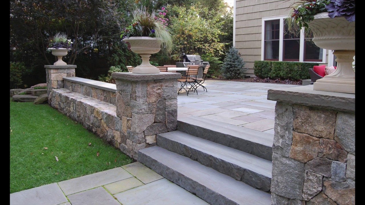 Natural Stone Retaining Wall Design Idea Gallery Chicago