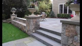 Natural Stone Retaining Wall - Design Idea Gallery - Chicago - VizX Design Studios - (855) 781-0725
