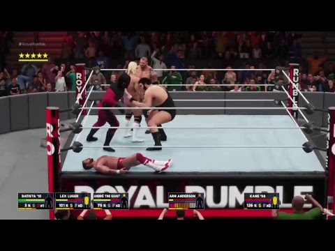 Scoop dan  wwe 2k18 universe wcw world war 3 wcw 30 man royal rumble
