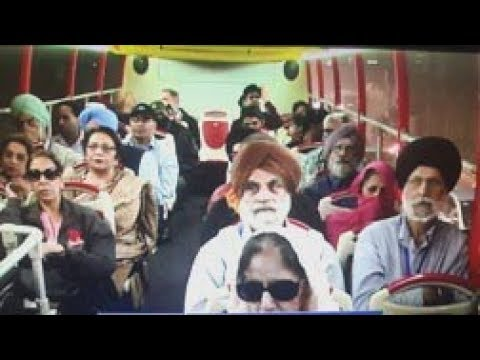 Canadian Enjoying Lahore Sightseeing Bus Tour