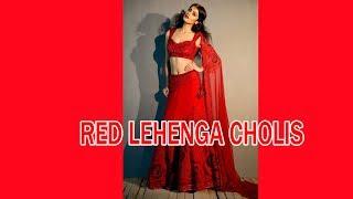Latest Top 5 Ghagra Choli 2017 in Hyderabad Charminar Bazaar.  Red Lehenga Cholis