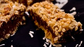 No Bake Chocolate Coconut Oat Bars | Rookie With A Cookie