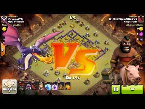 Clash of Clans - Town Hall 8: Hog Riders or Dragons?