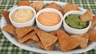 Hummus, Basic, Roasted Bell Pepper & Spinach Recipes  (hummus Tre Colori) (med Diet Episode 52)