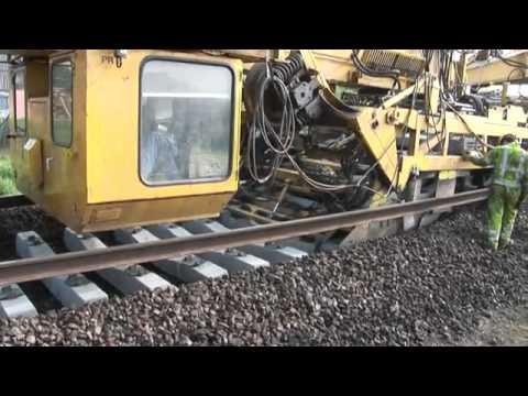 Amazing railway track laying machine - YouTube
